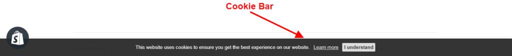 PromoteMe Advanced Cookie Bar Snapshot