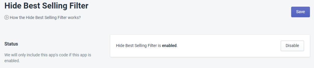 PromoteMe Hide Best Selling Filter