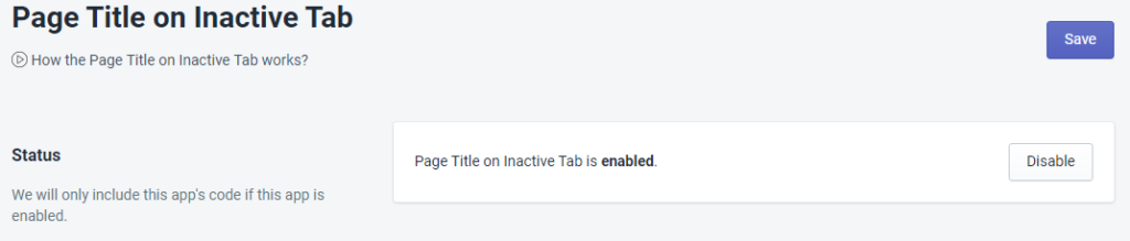 PromoteMe Page Title on InActive Tab