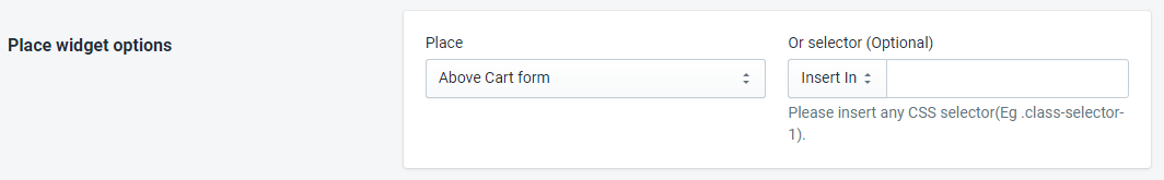 PromoteMe Cart Reserved Widget Position