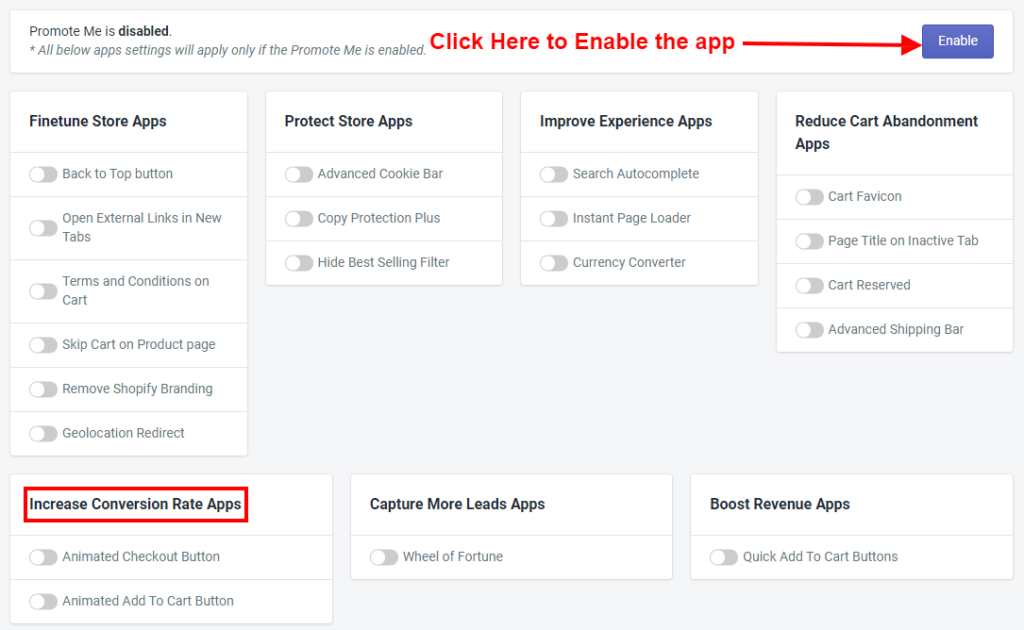 PromoteMe Increase Conversion Rate Apps