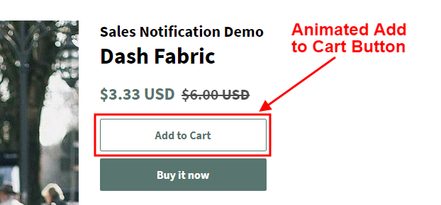 PromoteMe Animated Cart Button Snapshot
