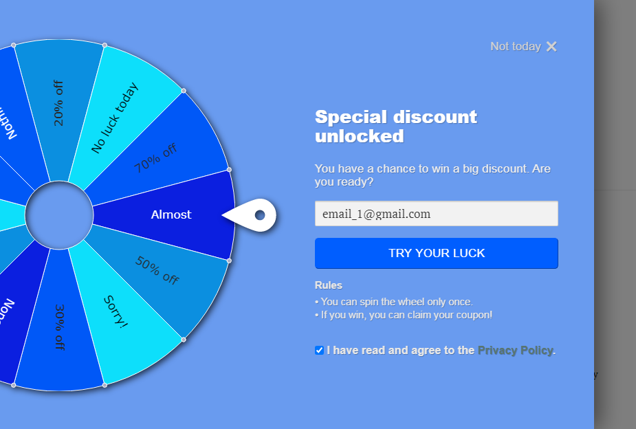 PromoteMe Wheel Of Fortune Snapshot