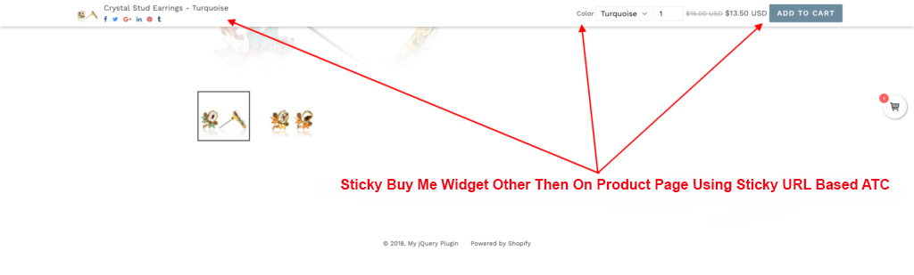 Sticky Buy Me Widget Using URL Based ATC