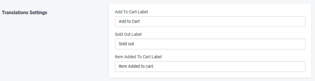 PromoteMe Add To Cart Translation Settings