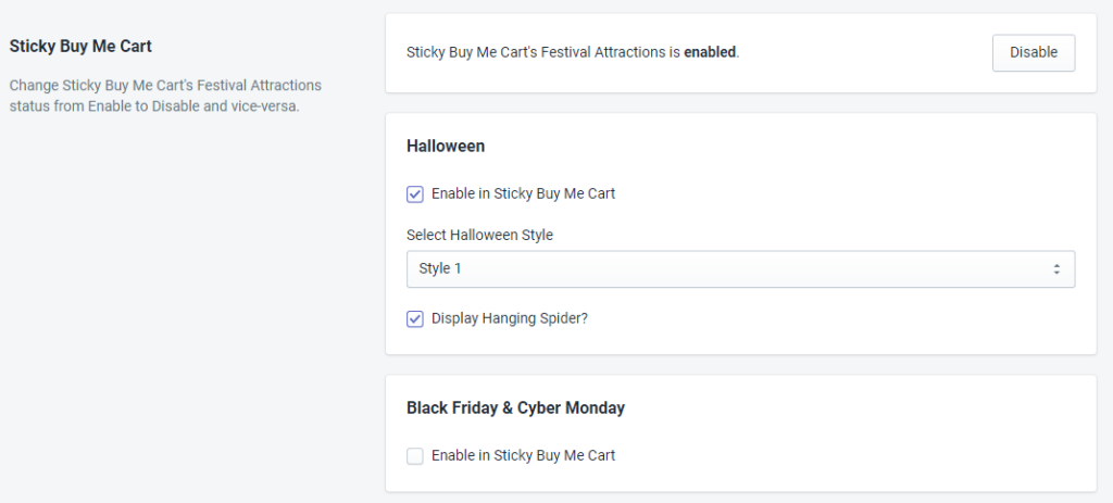 Sticky Buy Me Cart Status For Halloween By MakeProSimp