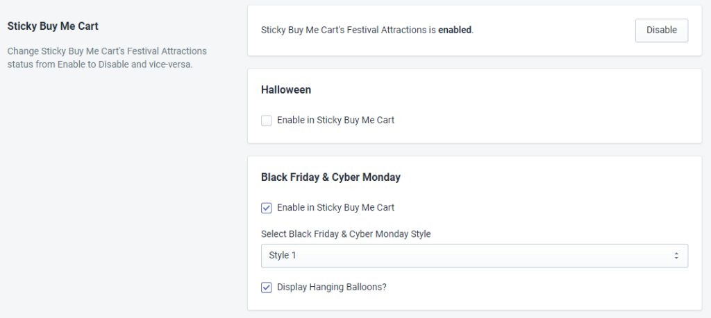 Sticky Buy Me Cart Status For Black Friday And Cyber Monday By MakeProSimp