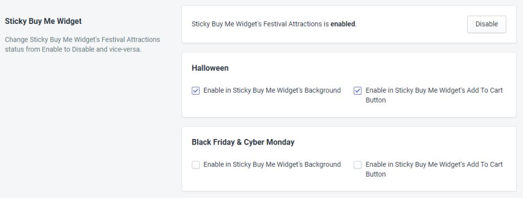 Sticky Buy Me Widget Status For Halloween By MakeProSimp