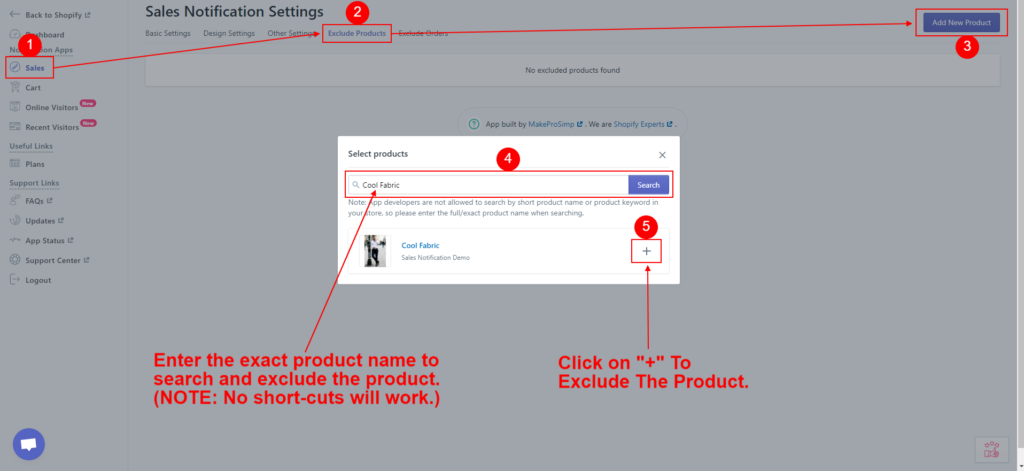 Exclude Product SN